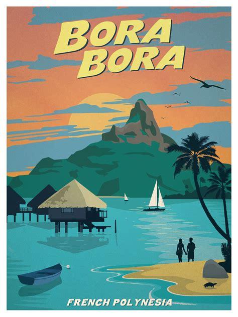IdeaStorm Studio Store — Vintage Bora Bora Poster