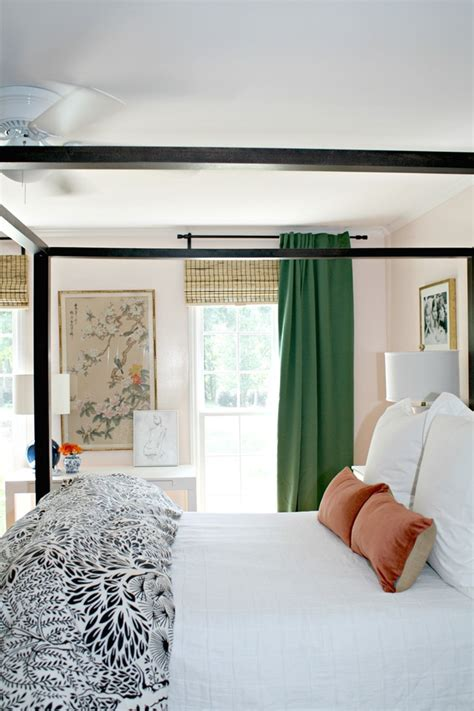 green ikea curtains   bedroom emily  clark