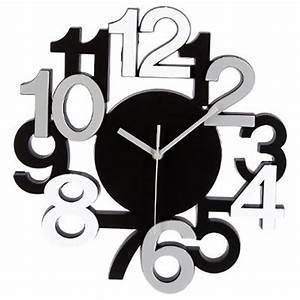 Horloge Murale Silencieuse : horloge murale design chiffres en relief pendule ~ Melissatoandfro.com Idées de Décoration