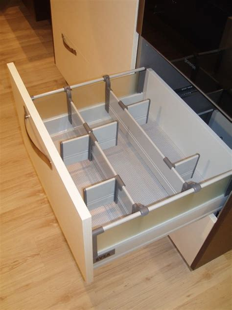 Low Drawer With Adjustable Divider Wall System  Modern