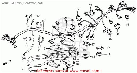 honda vf750c magna 1982 c usa wire harness ignition coil schematic partsfiche