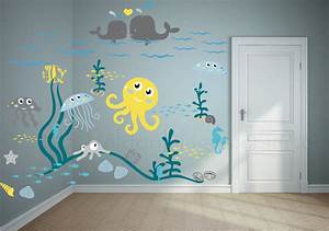 Jellyfish adventure wall decal nursery kids