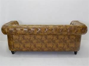 Ledercouch 3 Sitzer : couch sofa ledersofa 3 sitzer chesterfield stil b 199 cm 4961 sitzm bel sofas und sessel ~ Indierocktalk.com Haus und Dekorationen