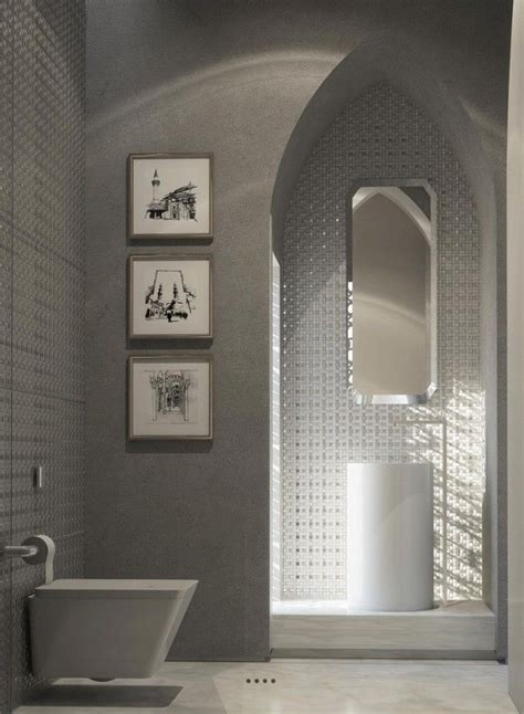 Modern Moroccan Bathroom Design by This Decidedly Modern Bathroom Uses The Moroccan Style As