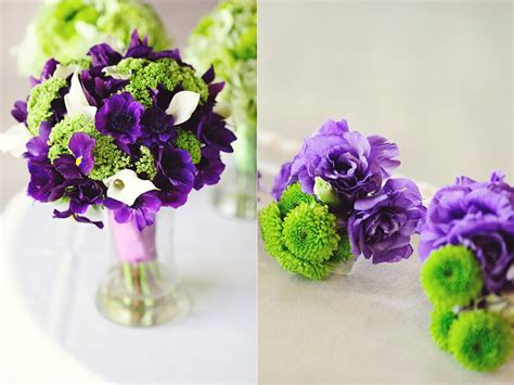 purple  green wedding flowers kreative angle