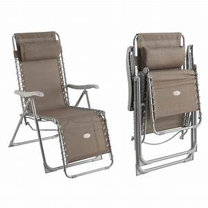 Fauteuil Relax Jardin : fauteuil de jardin relax silos taupe achat vente ~ Nature-et-papiers.com Idées de Décoration