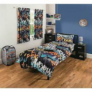 Graffiti bedroom collection george for Bedroom furniture sets george