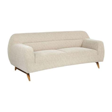 canapé tissu chiné sesma canapé 3 places en tissu beige chiné habitat