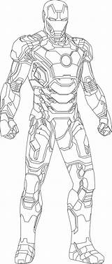 Avengers Coloring Pages Iron Ironman sketch template