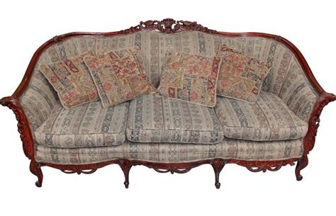Antique Furniture Sofa by Antique Naturalistic Rococo Revival Style Rosewood Sofa