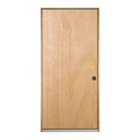 home depot wood doors interior jeld wen 32 in x 80 in hardwood unfinished flush solid