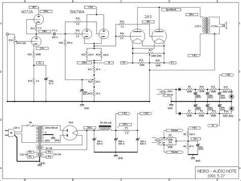 of schematics by brand audio note neiro