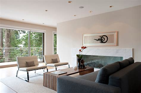 minimalist midcentury modern living room vancouver