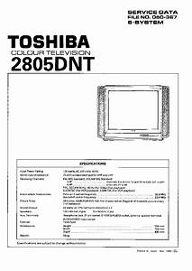 Toshiba 2805dnt Tv Sm Service Manual Download  Schematics