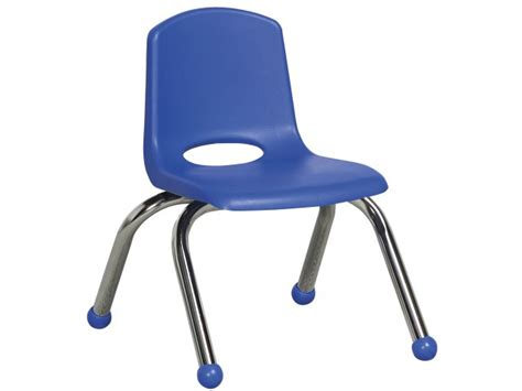 ecr poly classroom chair chrome legs 10 quot h preschool chairs 812 | ECC 10C