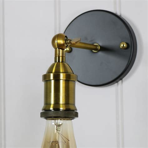 adjustable brass retro style wall light melody maison 174