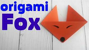 Origami Fox Face Easy Tutorial 3d Instructions  Origami