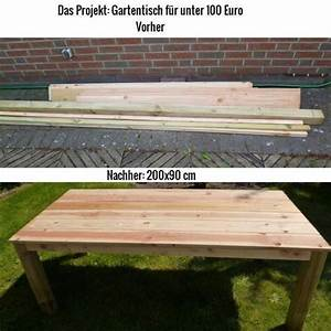 Gartentisch selber bauen bauanleitung diy und for Terrasse tisch selber bauen