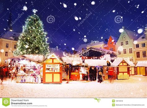 tallinn christmas market stock photo image  decoration