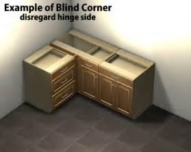 1 door 1 drawer blind corner base cabinet right