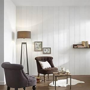 Lambris Peint En Blanc : lambris pin bross blanc x cm mm ~ Dailycaller-alerts.com Idées de Décoration