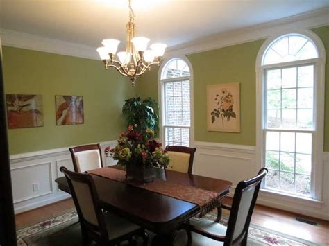green paint colors  small dining room  hanging