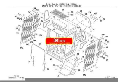 enoto huicom takeuchi excavator tl parts manual
