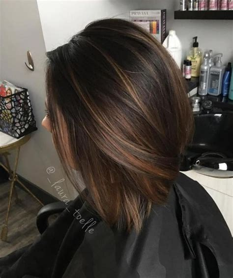 image result  balayage dark brown hair bob straight