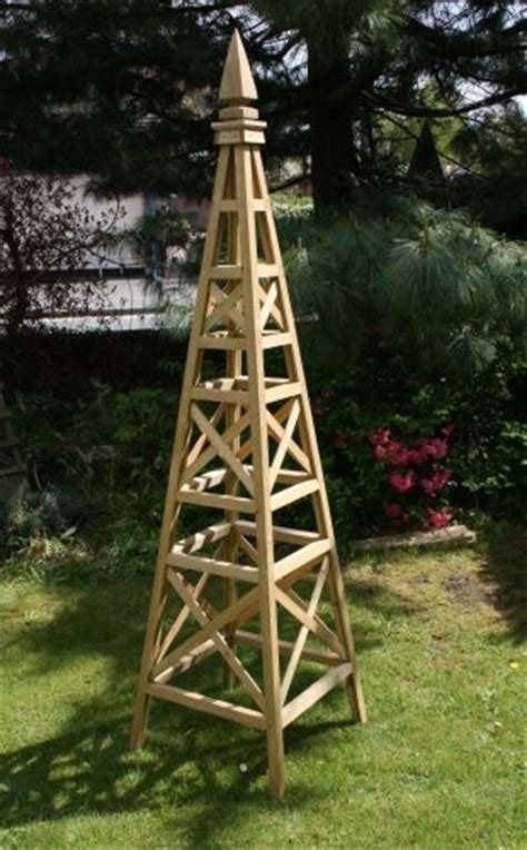 wooden pyramid trellis woodworking projects plans