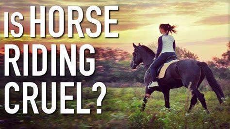 horse riding horses vegan cruel horseback take