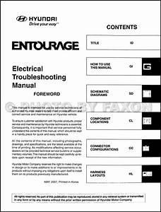 2008 Hyundai Entourage Electrical Troubleshooting Manual