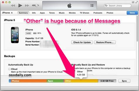what is other in iphone storage iphone 4s geheugen bijna vol maar geen idee hoe