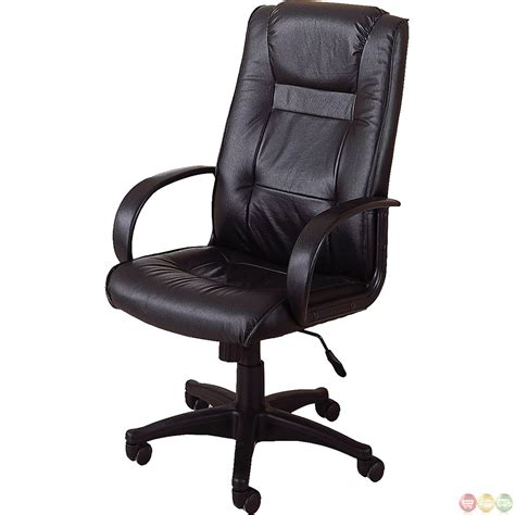 black genuine leather executive office desk chair