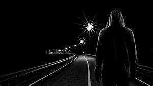Teen at night | Teenager boy standing alone in the street ...