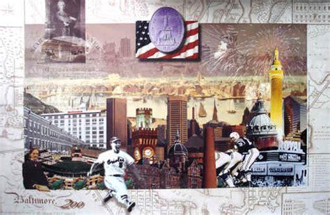 baltimore bicentennial artwork city skyline picture wall