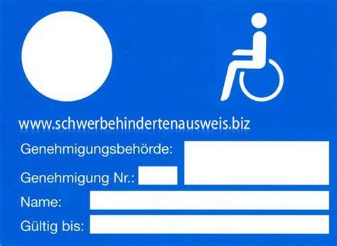 schwerbehindertenausweis g parken behindertenparkplatz