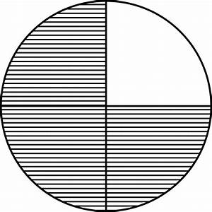 Image Gallery 3 4 Fraction Circle