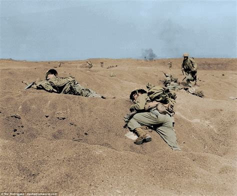 Dramatic Images Show The Horrors Of Iwo Jima In Color