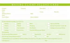 Client Consultation Card