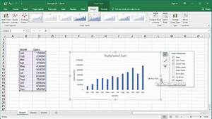 How To Change Elements Of A Chart Like Title  Axis Titles  Legend Etc In Excel 2016