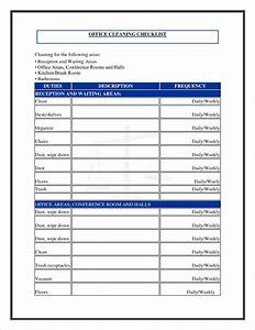 8 cleaning checklist template procedure template sample With maid checklist template