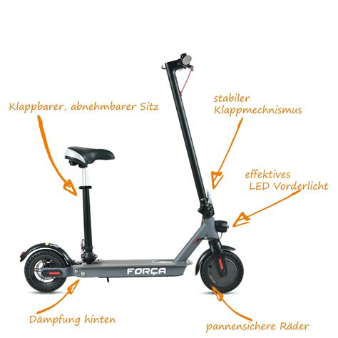 24 Km H by F O R C A Cman Electric Scooter 36v Lithium Battery 24