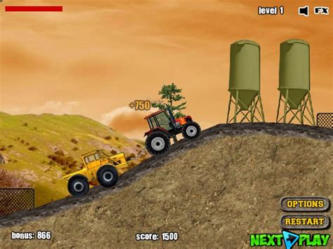 Tractor Mania - Funny Car Games