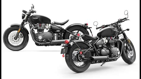2018 New Color Triumph Bonneville Bobber Black & Mate