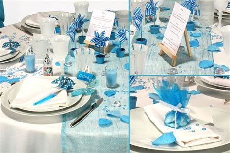 decorations dambiance table mariage bleu aquarelle