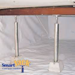crawl space structural support jacks installed in pasadena