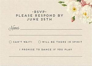 an rsvp card that doubles as a song request that39s one With wedding rsvp cards plus one