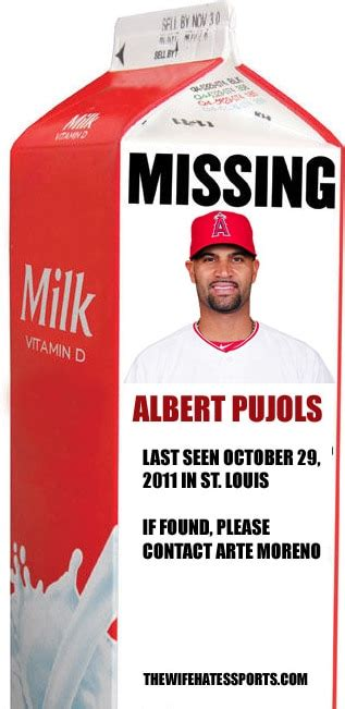 milk missing person template the milk albert pujols bat is missing in anaheim while carlos beltran flourishes in st