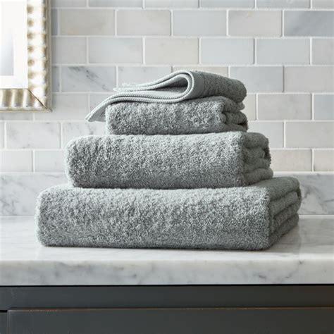 grey egyptian cotton towels crate  barrel