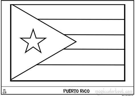 Puerto Rico Flag Free Coloring Pages